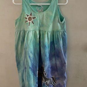 Girl's Horse Print Dress